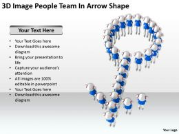 3D Image People Team In Arrow Shape Ppt Graphics Icons