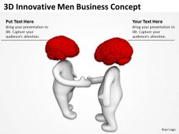 3D Innovative Men Business Concept Ppt Graphics Icons Powerpoint