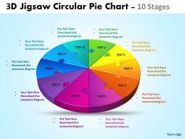 3d jigsaw circular chart powerpoint templates 6