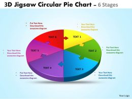 3d jigsaw circular diagram powerpoint templates 6