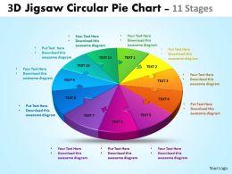 3D jigsaw circular powerpoint templates 5