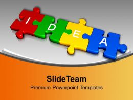 3d Jigsaw Puzzle Pieces With Idea Business Powerpoint Templates Ppt Themes And Graphics 0113
