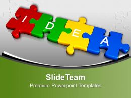 3d Jigsaw Puzzles Forms Idea Innovationpowerpoint Templates Ppt Themes And Graphics 0113
