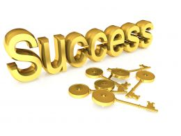 3d Key With Success Graphic Stock Photo