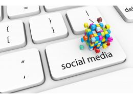 3D Keyboard With Social Media Key Stock Photo