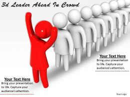 3d Leader Ahead In Crowd Ppt Graphics Icons Powerpoint
