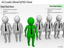 3d Leader Ahead Of His Team Ppt Graphics Icons Powerpoint