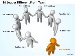 3d Leader Different From Team Ppt Graphics Icons Powerpoint
