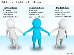 3d Leader Holding His Team Ppt Graphics Icons Powerpoint