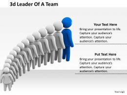 3d Leader Of A Team Ppt Graphics Icons Powerpoint