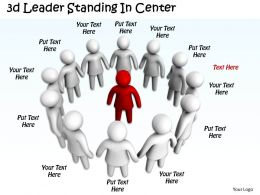 3d Leader Standing In Center Ppt Graphics Icons Powerpoint