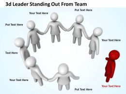 3d Leader Standing Out From Team Ppt Graphics Icons Powerpoint