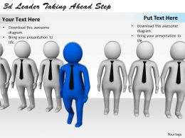 3d Leader Taking Ahead Step Ppt Graphics Icons Powerpoint