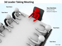 3d Leader Taking Meeting Ppt Graphics Icons Powerpoint