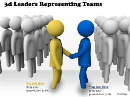 3d Leaders Representing Teams Ppt Graphics Icons Powerpoint