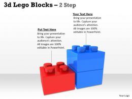 3d Lego Blocks 2 Step