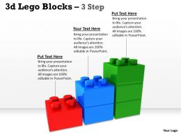 3d Lego Blocks 3 Step