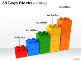 3d Lego Blocks 5 Step