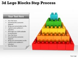 3d Lego Blocks Step Process 1