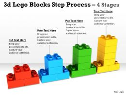 3d Lego Blocks Step Process 4 Stages