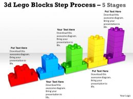 3d Lego Blocks Step Process 5 Stages