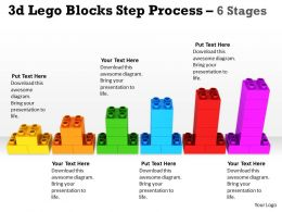 3d Lego Blocks Step Process 6 Stages