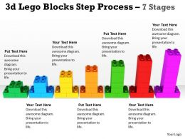 3d Lego Blocks Step Process 7 Stages