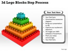 3d Lego Blocks Step Process