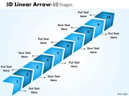 3D Linear Arrow 10 Stages 3