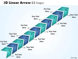 3D Linear Arrow 11 Stages 2