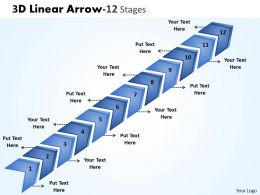 3D Linear Arrow 12 Stages 1