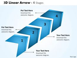 3D Linear Arrow 4 Stages 7