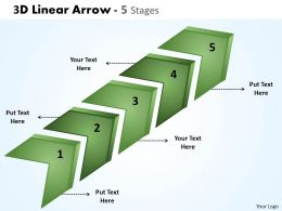 3D Linear Arrow 5 Stages 8