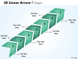 3D Linear Arrow 7 Stages 5