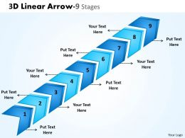 3D Linear Arrow 9 Stages 4