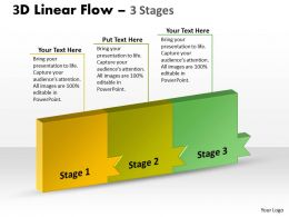 3D Linear Flow 3 Stages 1