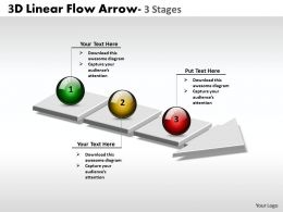3D Linear Flow Arrow 3 Stages 1