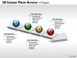 3D Linear Flow Arrow 4 Stages 2