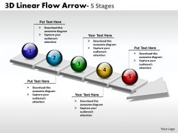 3D Linear Flow Arrow 5 Stages 3