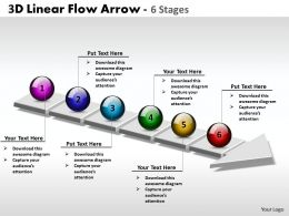 3D Linear Flow Arrow 6 Stages 4