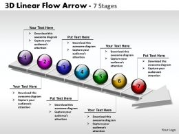 3D Linear Flow Arrow 7 Stages 1