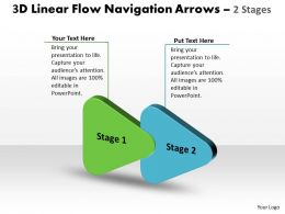3d linear flow navigation arrow 2 stages 5