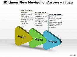3D Linear Flow Navigation Arrow 3 Stages 2