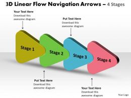 3D Linear Flow Navigation Arrow 4 Stages 12