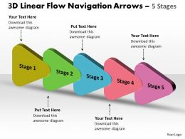 3D Linear Flow Navigation Arrow 5 Stages 13