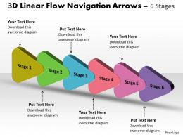 3D Linear Flow Navigation Arrow 6 Stages 12