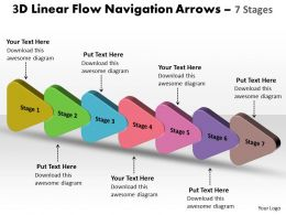3D Linear Flow Navigation Arrow 7 Stages 9