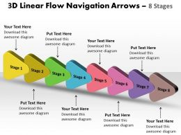 3D Linear Flow Navigation Arrow 8 Stages 10