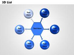 3D List 6 circular diagram 1