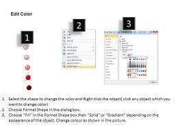 3D List Balls Powerpoint Presentation Slides